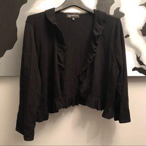 Jones New York black ruffle cardigan XL - EUC